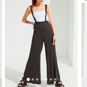 Urban Outfitters Judy Polka Dot Suspender Pants